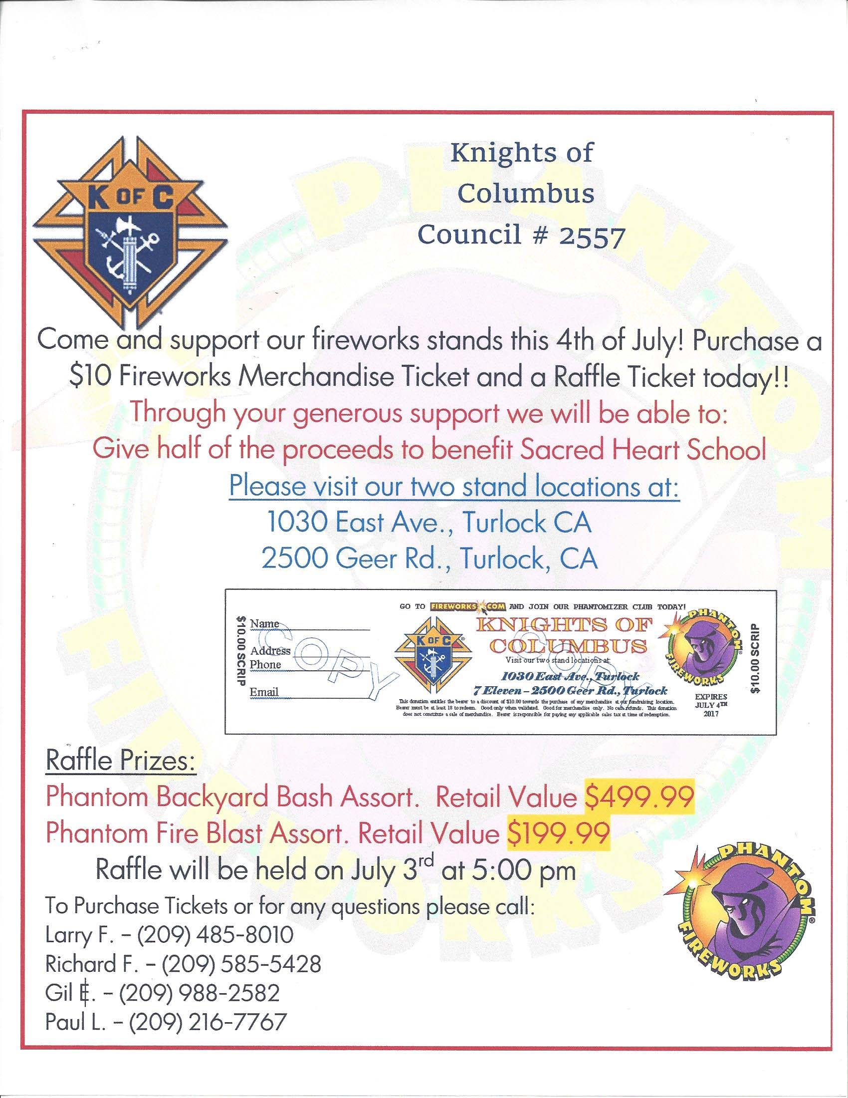 Knights Of Columbus Flyer