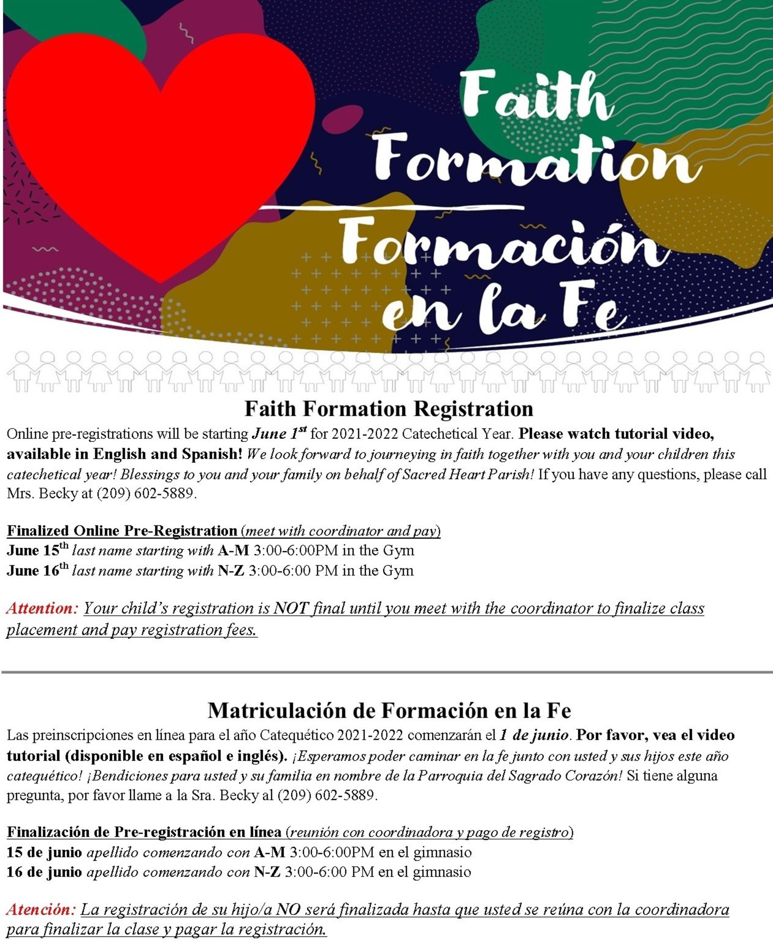 Formation Registration 2021