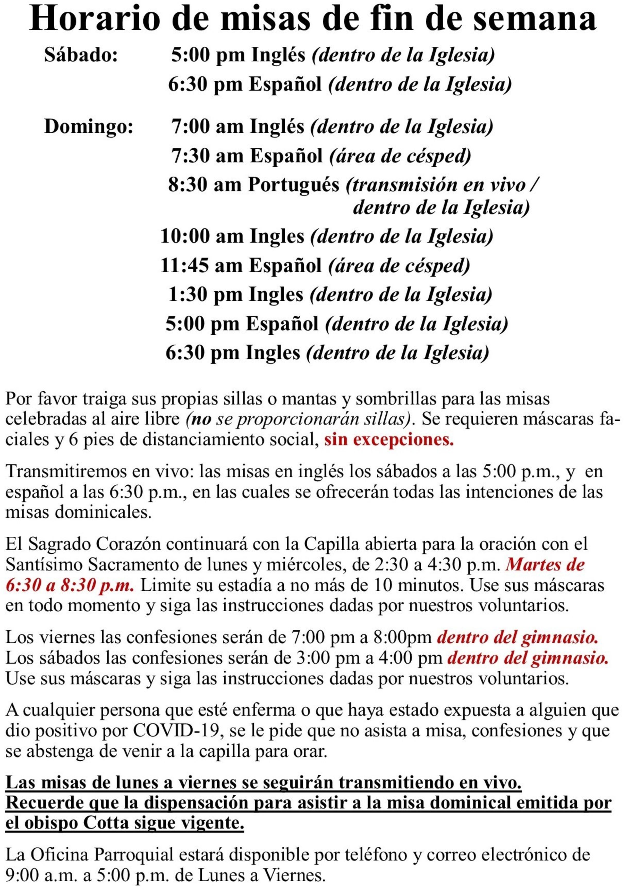 New Directives Spanish 5.2021