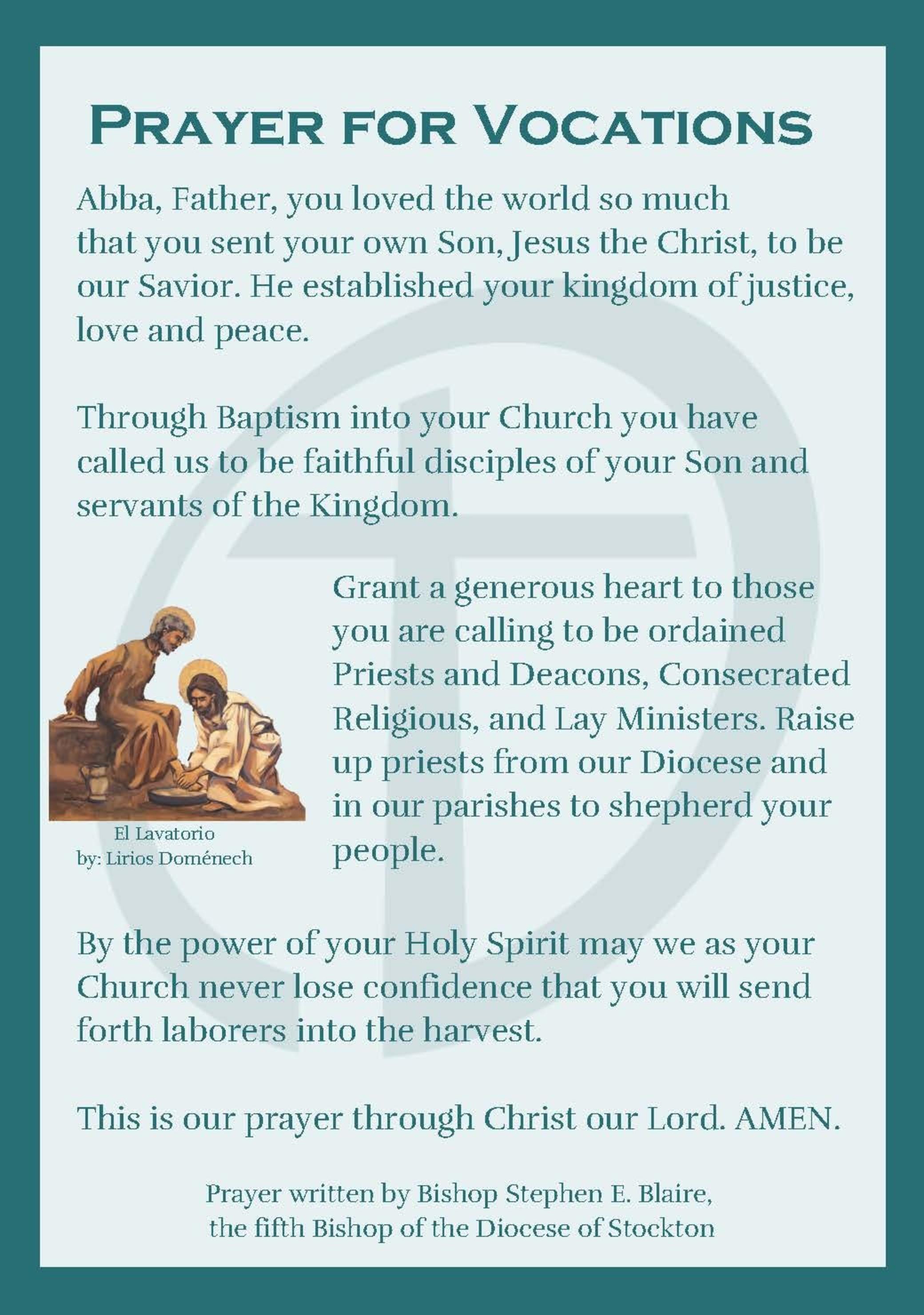 Vocation Prayer Page 1