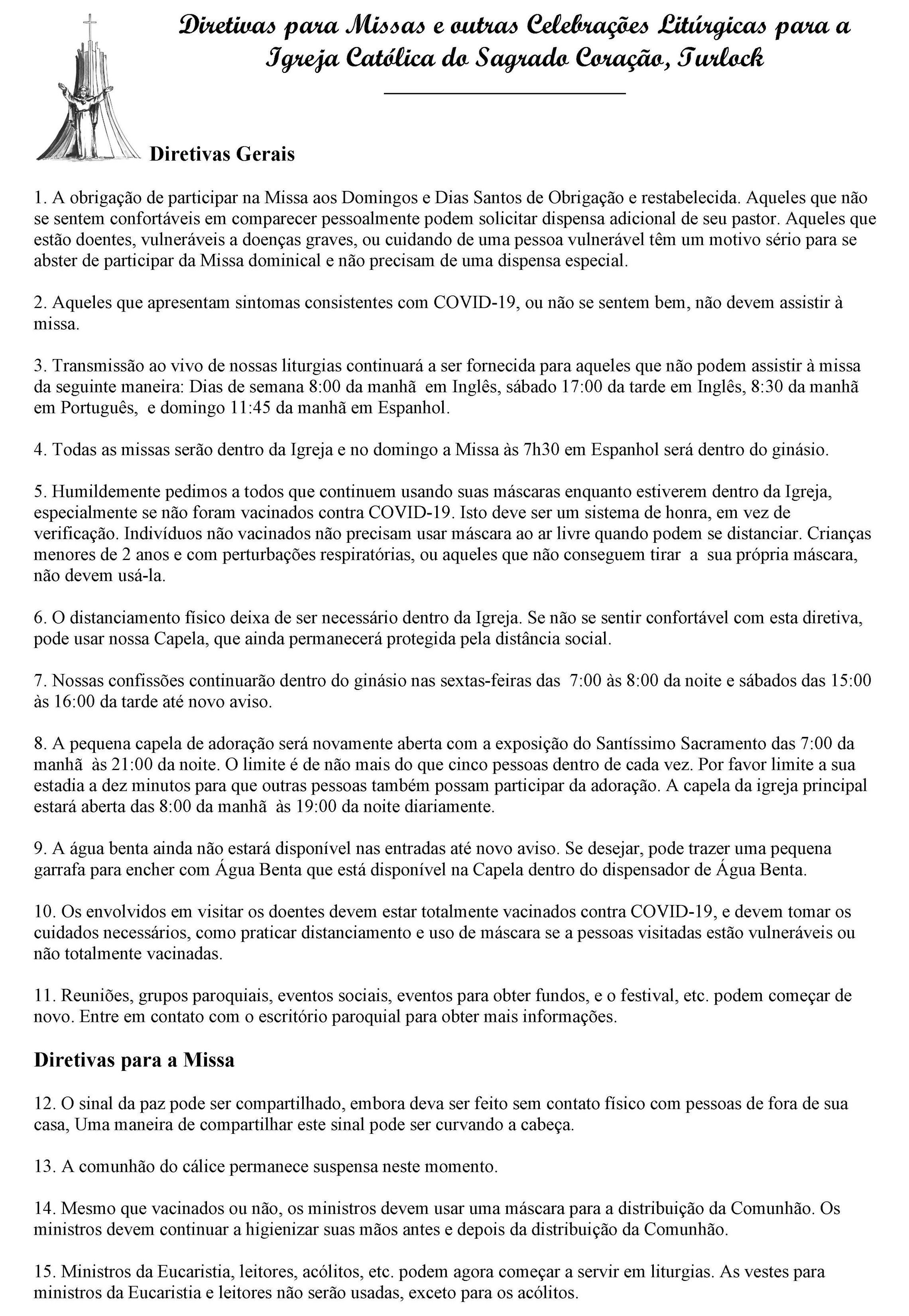 Directives In Portuguese 6 2021