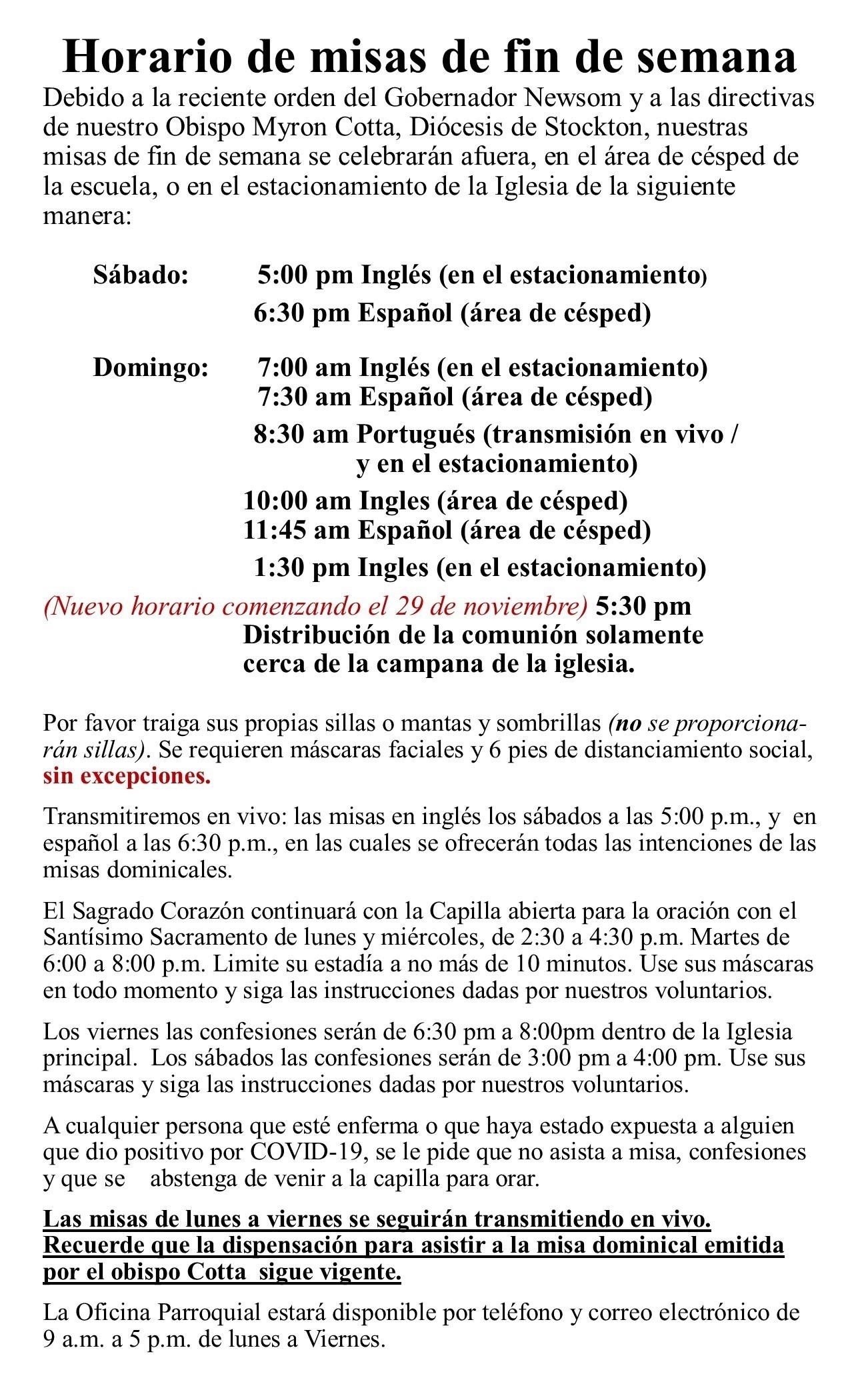 New Directives Spanish 11 2020
