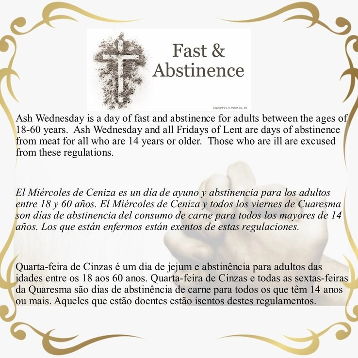 Fast And Abstinence 2021