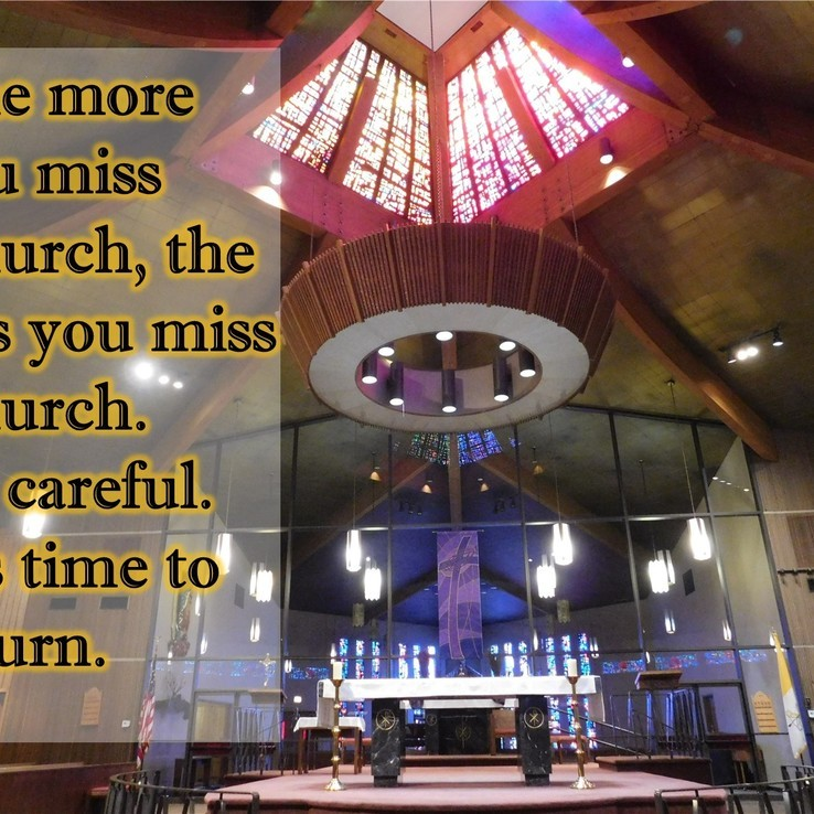 Return To Church Sign